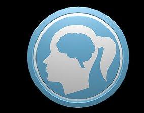 Low poly brain symbol 12 3D model