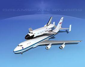3D model STS Shuttle Columbia LP 1-2 747