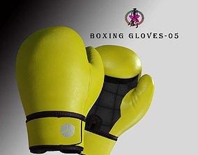 3D asset Boxing Glove-Yellow