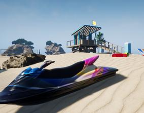 3D model UE4 Island