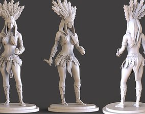 Aztec Women Sculpture 3D print model