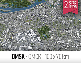 3D asset Omsk - city and surroundings