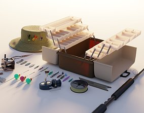 Fishing tackle pack 3D
