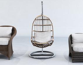 3D model Straw Furniture Outdoor design