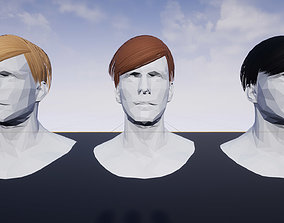 3D asset Hairstyle 9