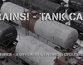 TRAINS Tank cars 3 liveries 3D