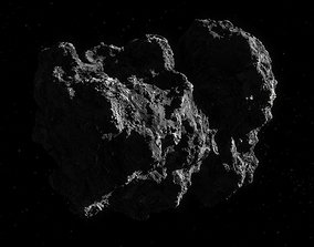 Photorealistic comet 3d-model