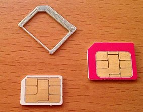 3D printable model SIM Card Adapter for Nano to micro