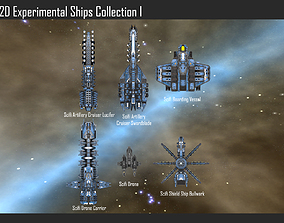 2D Experimental Ships Collection 3D