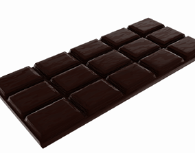 Chocolat bar 3D asset