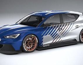 Seat Leon Cupra e-Racer 2021 3D model