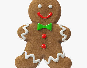 gingerbread cookie 07 3D model