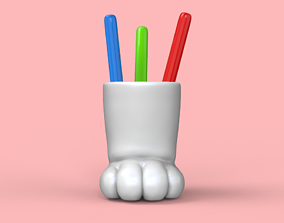 Cat Paw Pen Storage STL for 3D printable model