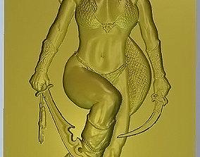 Lady with anaconda 3D print model