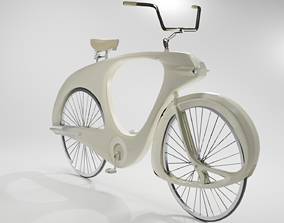 Old Style Bicycle 1946 old 3D model