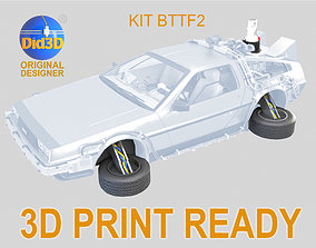 KIT Wheels and Mr Fusion Bttf2 FOR DELOREAN Did3D 1