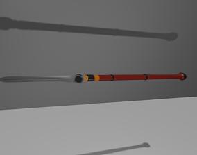 3D model Yari - ninja weapon