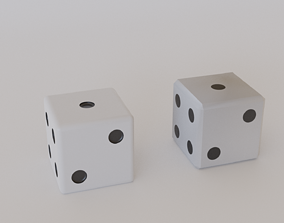 Dice - HighPoly and LowPoly 3D model