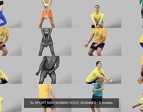 5x SPORT MAN WOMAN VOL01 SCANNED 3D model