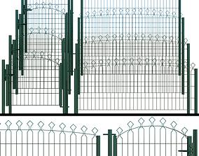 3D model Gate wicket fence metal