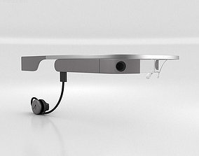 3D Google Glass with Mono Earbud Charcoal