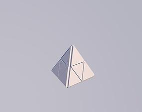 3D asset Sci Fi Object No8 - Pyramid Sphere Torus 2019 Low