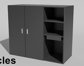 3D model Black Cupboard