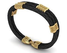3D print model MEN LEATHER BRACELET bracelets
