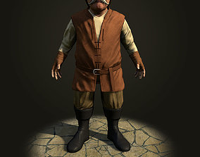 Dwarf the peasant 3D asset