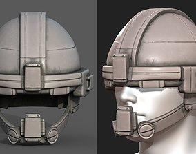 3D asset Helmet military combat soldier armor scifi