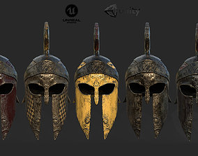 3D asset Antique spartan helmet the Corinthian type