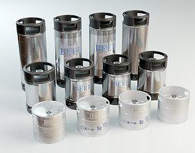 Beer Barrel 5L 10L 19L 3D asset