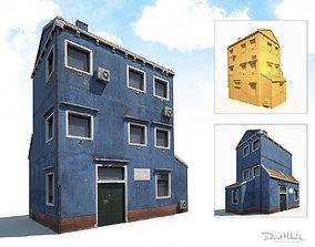3D asset Old Building 185 Low Poly