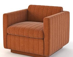 3D model Milo Baughman Art Deco Cube Club Lounge Chair