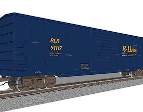 Train Car - Boxcar - Railroad Freight Train 3D model