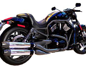 harley motorbike 3d model low-poly