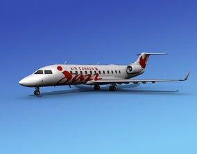 3D model Canadair CRJ100 Air Canada Jazz