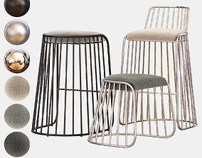 BRIDEs VEIL Bar Chair and Counter Stool 3D