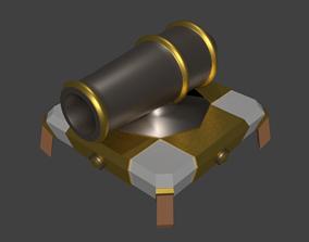 3D asset low-poly Cannon