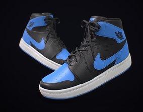 3D asset Sneaker Nike Air Jordan Blue Black
