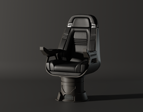3D model Enterprise NX Chair Captain B