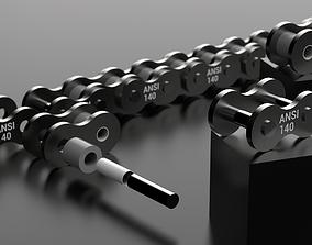 3D print model STANDARD ROLLER CHAIN - ANSI 140