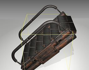 3D asset Futuristic Stairs - 7 - Rusty Textures
