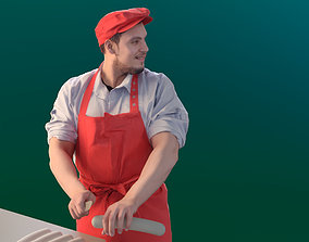Sevin 10136 - Standing Butcher 3D model