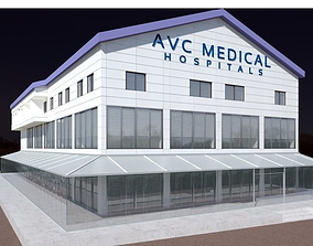 Hospital and Industrial Factory Building Exterior high 3D