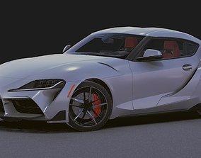 Realistic Mobile Car 13 Toyota Supra 3D asset