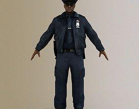 3D asset Police Officer