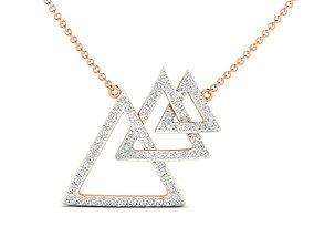 Women necklace 3dm stl render detail delicate