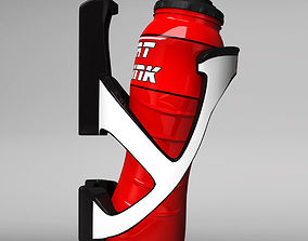 MTB bicycle sport bottle with cage 3D