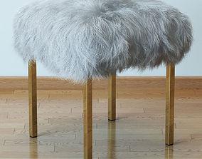 3D model Sheepskin stool